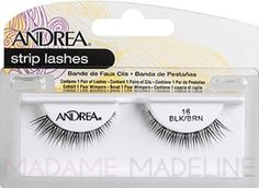 Andrea Strip Lash 16 BLK/BR Black/Brown #madamemadeline #andrea #andrea_lashes #andrea16