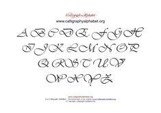PDF Calligraphy Alphabet Chart Uppercase
