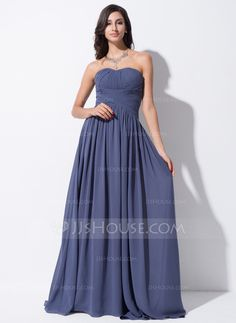 Evening Dresses - $109.99 - A-Line/Princess Sweetheart Sweep Train Chiffon Evening Dress With Ruffle (017051647) http://jjshouse.com/A-Line-Princess-Sweetheart-Sweep-Train-Chiffon-Evening-Dress-With-Ruffle-017051647-g51647