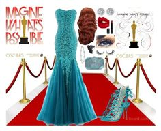 """""""Oscar outfit"""" by gabcantlie ❤ liked on Polyvore featuring Sophia Webster, Charlotte Tilbury, Rimini, Topshop and Monsoon"""