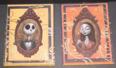 Nightmare Before Christmas halloween cards I made.....Custom Crafter's Creations >^._.^< By Jenny