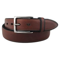 Classic leather belt with carefully fittet overlay.