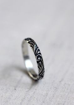 Renaissance pattern ring from Praxis Jewelry
