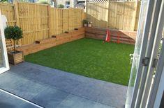 Super-simple, tidy garden, with astroturf.