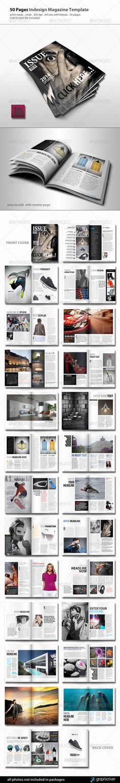 A5 InDesign Magazine | Print templates, Magazine layouts and Font logo