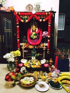 My first varalakshmi vratham decoration at home.. :)