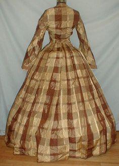1850's Plaid Dress back