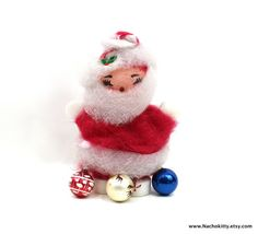 1950s Large Santa Claus Retro Christmas Decoration by Nachokitty, $58.00