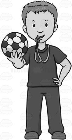 Soccer Coach Looking Ready To Train A Team #athlete #ball #fan #fun #game #guy #looker #male #maleperson #man #play #pump #recreation #single #soccer #soccerball #somebody #someone #spectator #spectatorpump #sport #sports #sportsfan #strap #viewer #watch #watcher #watching #whistle #vector #clipart #stock