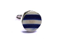 Classic Blue Stripe Ring Free Silver, Ring Designs, Blue Stripes, Handcrafted Jewelry, Gemstone Rings, Antiques, Classic, Antiquities