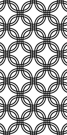 Monochrome Seamless Curved Pattern Black And White
