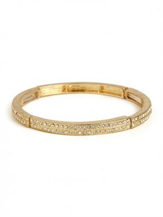 Gold Crystal Channel Bangle