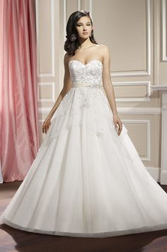 Strapless ball gown wedding dress by Moonlight, Fall 2014