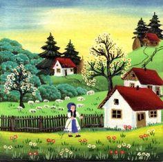 Mariana Mihut Naive Art, Folk Art, Art Gallery, Arts And Crafts, November, Painting, Cook, Artists, Recipes