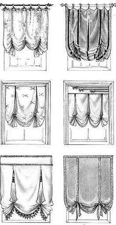 Office Curtains, Cute Curtains, How To Make Curtains, Curtains With Blinds, Window Curtains, Window Coverings, Window Treatments, Curtain Trim, Balloon Shades
