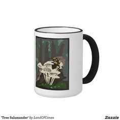 'Tree Salamander' Ringer Coffee Mug