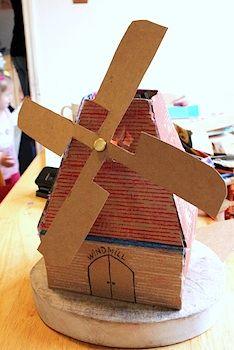 Creative Learning cardboard craft windmill diy tutorial