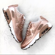 3f607d646098 Nike Air Max 90 SE Leather with SWAROVSKI® Xirius Rose-Cut Crystals. Color   Metallic Red Bronze Metallic Red Bronze FIT  True to size This style is  made in ...