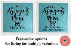 Vinyl Sticker DIY Box Frame Our Amazing Mum, My Amazing Mum, Choose any Name #Unbranded #Contemporary