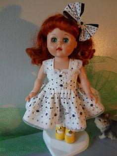 LITTLE DOT  dress and hairbow  fit Ginny Muffie dolls