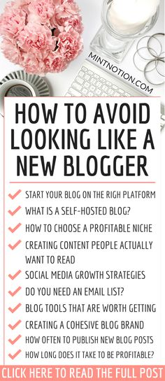How to avoid looking like a new blogger. This list has great blogging tips for beginners. Learn how to start your blog, choosing your web hosting, how to grow your blog traffic, email marketing, social media strategies, and how to make money from blogging. Click through to find out common blogging mistakes to avoid. #bloggingtips #howtomakemoneyblogging