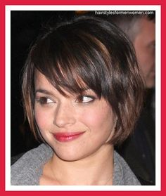 Hairstyles for Short Hair with Bangs and Layers picture and slideshow