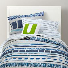 The Land of Nod | Boys Bedding: Frequency Line Design Bedding in Boy Bedding