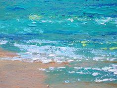 Título: Compañero de playa impresiones 56 pintura ** Esperanza sólo por favor *** Aquí está un primer plano de la costa del océano, en un hermoso día con el sol que se refleja en las olas de color turquesas y azul. Parece listo para entrar! Se trata de una lona de 12 x 12 con pincel y espátula, los lados se pintan un color marrón oscuro, así que no hay necesidad de enmarcar a menos que desee. Después acabados con barniz satinado de brillo y protección. Un gancho de diente de la sierra…