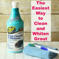 The Easiest Way to Clean and Whiten Grout without scrubbing. #Cleaning #Grout #Bathroom #TheHowToHome Clean Bathroom Grout, Clean Tile Grout, How To Clean Granite, How Do You Clean, How To Clean Grout, Cleaning Granite Countertops, Remove Water Stains, Grout Cleaner, Granite Cleaner