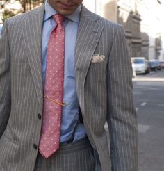 grey wide pinstripe suit - Google Search