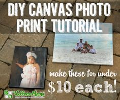 DIY Canvas Photo Print Tutorial
