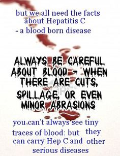 HCV is blood to blood contact ONLY!