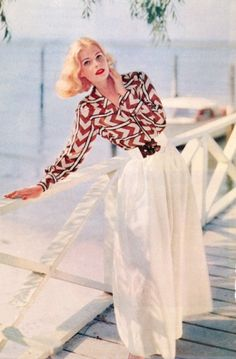 A vibrant graphic-print top from 1960, it's safe to say we'd wear this now! (via My Vintage Vogue)