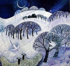Danish artist and illustrator Lisa Graa Jensen, On cover of wonderful book, Haphazard by Starlight, Janet Morley.