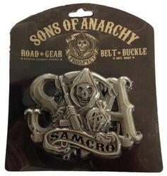 Hebilla cinturón Samcro. Sons of Anarchy Estupenda hebilla de cinturón con el logo Samcro de la serie de TV Sons of Anarchy.