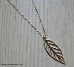Glided Leaf Pendant - Nadine West
