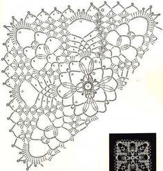 Ажурные мотивы для вязания скатерти или салфетки: