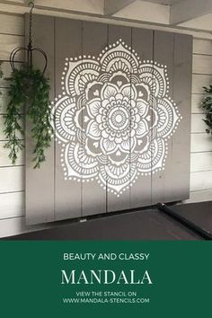 Mandala wall stencils DIY for home of work place decor. Mandala Ibiza wall stencils to pimp your home, garden, office, shop, restaurant or club! We have 8 different mandalas in different sizes from which you can choose! Mandala Stencils, Mandala Painting, Mandala Drawing, Mandala Art, Flower Mandala, Arte Pallet, Stencil Diy, Damask Stencil, Doodle Art Drawing