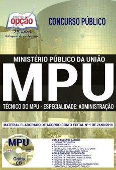 Apostila Mpu Tecnico Administrativo Pdf Administracao Concurso