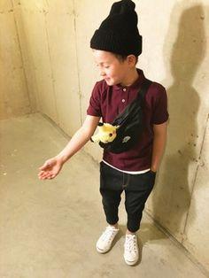 tokyonhさんの「【andit_Kids】フライスコットンベーシック半袖Tシャツ(and it_|アンドイット)」を使ったコーディネート