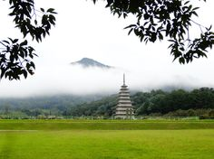 Reconstructed Eastern Pagoda at the Mireuk-sa Temple site  익산 걷기 - 미륵사지 가는 길