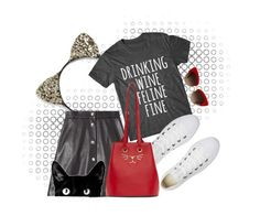"""""""Feline Fine"""" by astriddt ❤ liked on Polyvore featuring Cara, Dolce&Gabbana, IRO, Converse and Charlotte Olympia"""