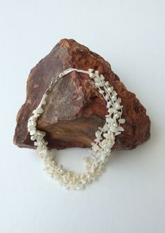 Multi Strand Pearl Necklace Beaded Choker Crochet Statement