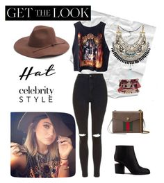 """Get the look K style"" by angieconde ❤ liked on Polyvore featuring Kendall + Kylie, Topshop, Alexander Wang, Adoriana, Phase 3, Boohoo, Gucci, GetTheLook and hats"