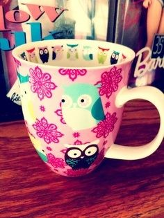🖤luv this owl cup💗owl's rock--oh yeah Owl Coffee, Coffee Cups, Drink Coffee, Owl Kitchen Decor, Owl Rocks, Owl Bags, Cute Cups, Wise Owl, Kitchen Time