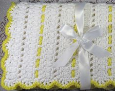 PDF Pattern Crocheted Baby Afghan, CAR SEAT Size and Newborn Size Blanket -- You are My Sunshine