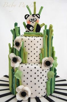 Baby Panda - Cake by Paola Manera- Penny Sue Panda Birthday Party, Panda Party, Cakepops, Beautiful Cakes, Amazing Cakes, Fondant Cakes, Cupcake Cakes, Bolo Panda, Panda Baby Showers