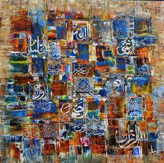 Pakistani Calligrapher M.A Bukhari calligraphy