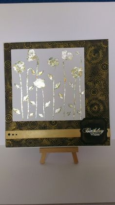 Gilding flakes & wax embossed card.