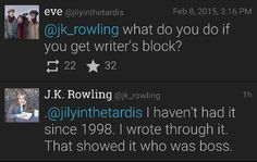 Write through writer's block. Show it  who's the boss.
